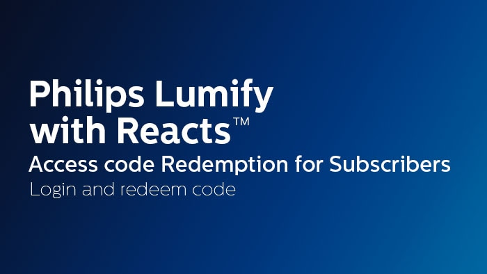 Login and redeem code - Subcribers