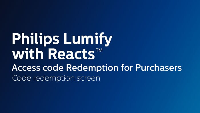 Code redemption screen - Purchasers