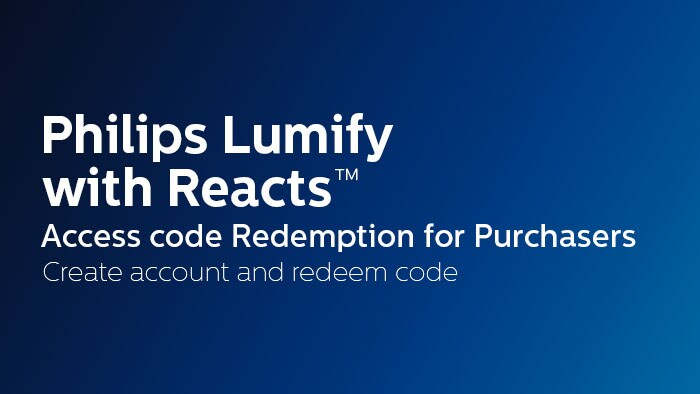 Create account and redeem code - Purchasers