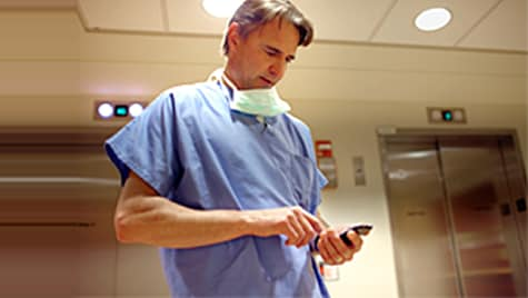 Philips mobile app for patient monitoring data