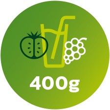 400g of fruit graphic