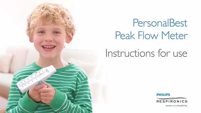 thumbnail for PersonalBest Peak flow meter instructions video