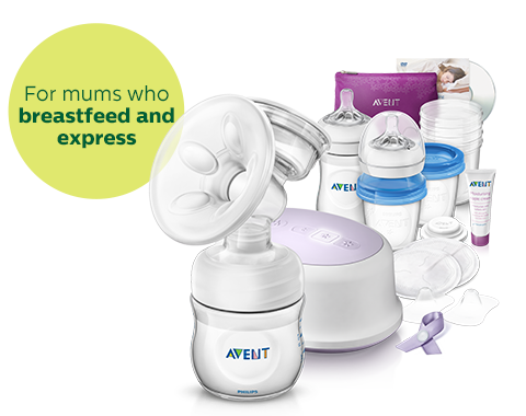 Breast Feeding Essentials: Breast Pump, Bottle, Storage Philips Avent