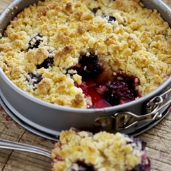 Apricot and Blackberry Crumble | Philips Chef Recipes
