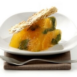 Citrus jelly with almond crunch | Philips Chef Recipes
