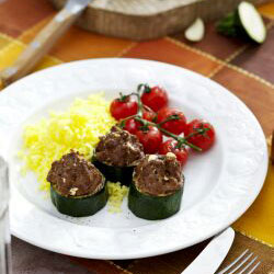 Courgette Stuffed with Ground Meat | Philips Chef Recipes