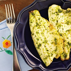 Grilled fish fillet with pesto sauce | Philips Chef Recipes
