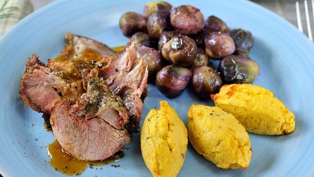 Leg of lamb with potato quenelles | Philips Chef Recipes