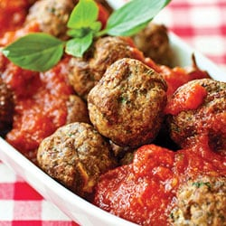 Fried meatballs in tomato sauce | Philips Chef Recipes
