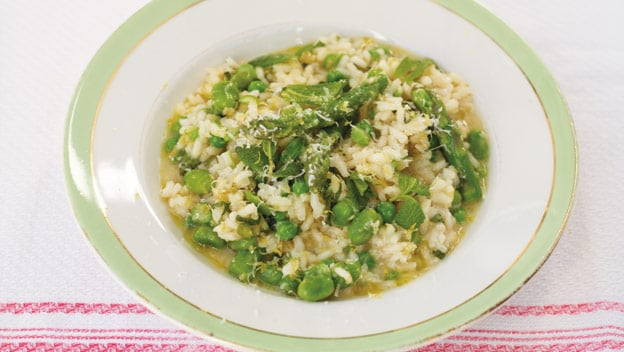 Risotto Primavera with asparagus | Philips Chef Recipes
