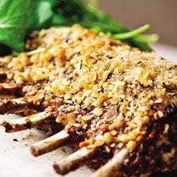Roasted rack of lamb with a macadamia crust | Philips Chef Recipes