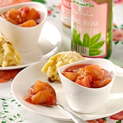 Peach compote with rosewater | Philips Chef Recipes