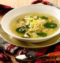 Spinach, Leek And Cannellini Soup | Philips Chef Recipes