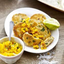 Thai Fish Cakes with Mango Salsa | Philips Chef Recipes