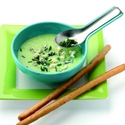 Chilled spring onion soup with blue cheese | Philips Chef Recipes
