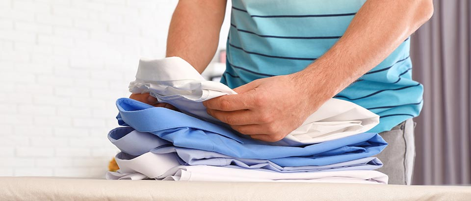 How to fold shirt to safe space