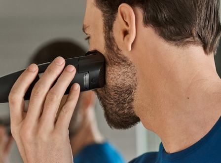 Laser guided beard trimmer – lift & trim system