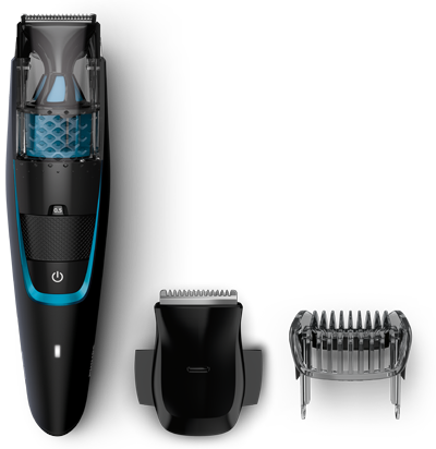 philips beard trimmer 7000 less mess vacuum trimmer philips. Black Bedroom Furniture Sets. Home Design Ideas